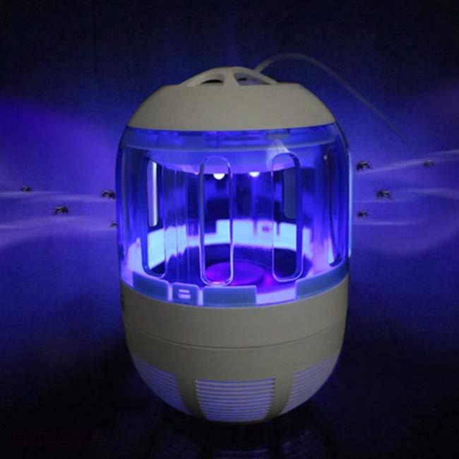 Cách sử dụng đèn bắt muỗi chỉ dùng quạt hút