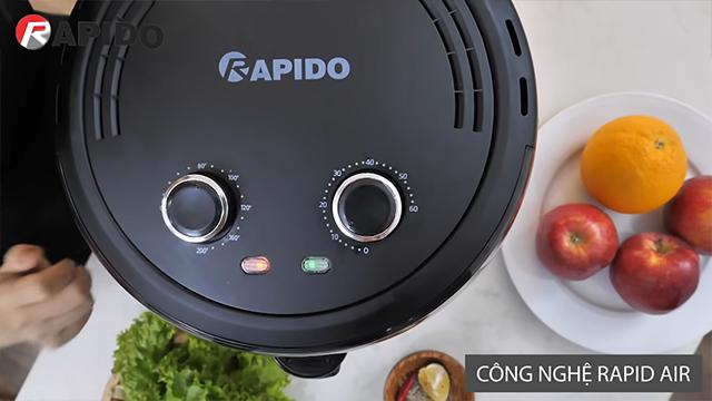 Nồi chiên không dầu Rapido có công nghệ gì?